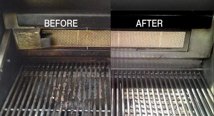 grill before after